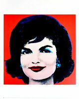 Andy Warhol Jackie on red Poster Kunstdruck Bild 36x28cm