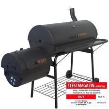 Smoker BBQ Grill Grillwagen Barbecue Holzkohlegrill 95 cm Rost XXL
