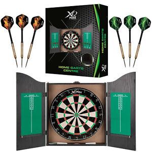 Home Darts Centre Dartboard, Cabinet, 6 Darts, Scoreboards XQMAX