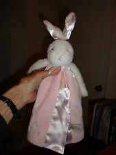 Bunnies By The Baby Security Blanket Pink Hippity Hop Off We Go Bunny Rabbit