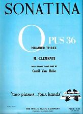 SONATINA OPUS 36 / NUMBER THREE by Muzio Clementi - Sheet Music for Two Pianos