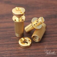 Schroeder Locking Studs GOLD- SAE (Imperial) bridge post- replace Tone Pros
