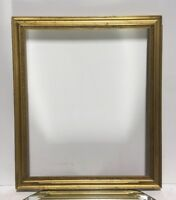 "VTG. Aesthetic Victorian Wood Gold Gilt Wood Picture Frame Fits 11 1/4""x 13 1/2"""