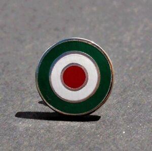 ITALIAN FLAG VESPA LAMBRETTA MOD TARGET SCOOTER MEMORABILIA LAPEL PIN BADGE M36B