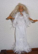 vêtements  pour barbie robe de mariée étole fourrure NEUF lavables et résistants