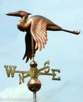 SWEET HERON WEATHERVANE W/COPPER BALLS & BRASS DIRECTIONALS MADE IN THE USA #106