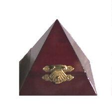 Masonic Mason Masonry Freemasonry Lodge Wood Pyramid Ring Pin Trinket Box RA 33