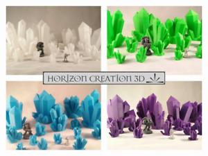 HC3D - Crystals All Colors!  - Wargames - Terrain - Scenery - Fantasy