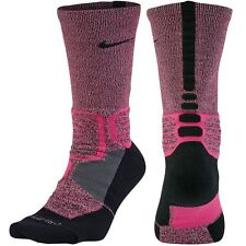 NIKE Hyper Elite Crossover Basketball Crew Socks sz XL X-Large (12-15) Pink