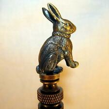 Detailed RABBIT LAMP FINIAL for old antique shade or lampshade, rustic cabin