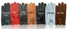 NEW REAL LEATHER MENS DRIVING GLOVES   FREE SHIPPING