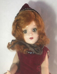 Arranbee R&B ? doll Flaming Red Hair 1940's vintage composition 14 1/2 Inches Ta