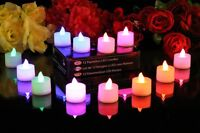 12 Colour Changing Flameless LED Battery Tea Lights by PK Green