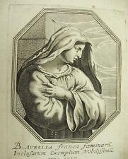 Aurelia Aurélie de Rome Michiel VAN LOCHOM XVIIe à la Duchesse d'Aiguillon 1639