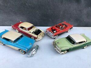 Lot of 4 Vintage AMT Revell Built Buick & Chrysler Model Cars - 1:32