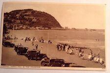 Minehead North Hill & the Promenade postcard Photochrom Classic Cars Pre-war