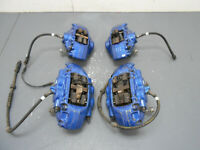 2015 14 15 16 17 18 19 BMW M4 F82 / F83 Blue Brembo Brake Caliper Set #9342
