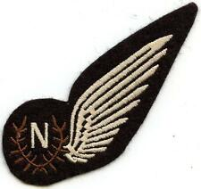 Vintage British Royal Air Force Felt Patch RAF N Navigator Uniform Breast Wing