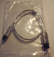 1ft clear Firewire 800 (9 Pin) cable. New in sealed bag.