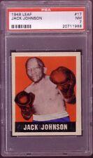 1948 LEAF JACK JOHNSON CARD NO:17 PSA 7 NEAR MINT