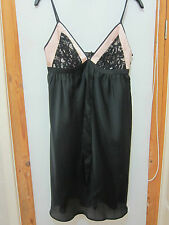 *NEXT* Signature SexyWomens Nightwear Lace Trim Nightie Peach and Black  Size 12