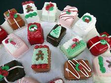 SET OF 6 FABULOUS FAKE CHRISTMAS PETIT FOURS
