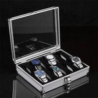 12/6/2 Grid Slots Jewelry Watches Display Storage Box Case Aluminium Square ez