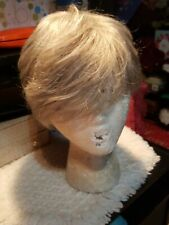 TONY OF BEVERLY  SILVER/GRAY SHORT WIG  WITH SIDE BANGS USED