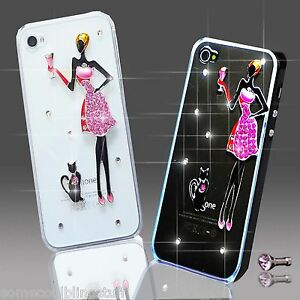 NEW 3D DELUX COOL BLING PINK GIRL FLOWER DIAMANTE CASE FOR VARIOUS MOBILE PHONES