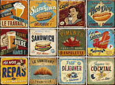 12 souvenir fridge magnets - vintage advertising - (2.8x2.8 inch) - set 4