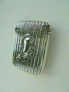 Silver Art Nouveau Vesta Case Matchsafe Box