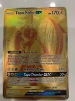 Tapu Koko GX GOLD FULL ART SECRET RARE SV93/SV94 Pokemon SM Hidden Fates