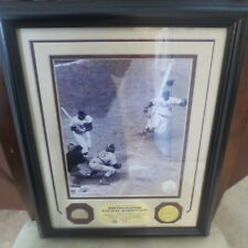 Jackie Robinson Brooklyn Dodgers HOF Highland Mint Game Bat with Coin COA 90/250