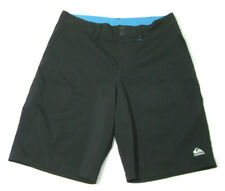 QUIKSILVER Men's Size 32 Solid Black Board Shorts Swimwear Surfing Swim Swimming