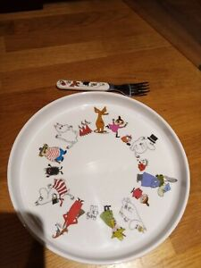 CHILDS Moomin Melamine Plate and Fork