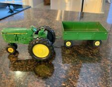 Vintage Ertl John Deere Tractor With Hitch & Wagon