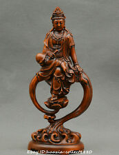 Collect China boxwood wood Guanyin Kwan-yin Bodhisattva Goddesses heart statue