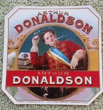 Original Vintage Arthur Donaldson Embossed Outer Cigar Label
