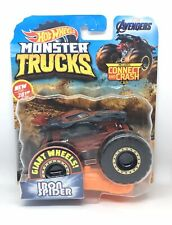 HOT WHEELS MONSTER TRUCKS IRON SPIDER CONNECT AND CRASH CAR 2019 IN HAND!