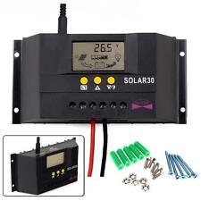 30A Solar Panel Charge-Controller Regulator 12V/24V AUTO-360W/720W For LED Light