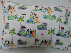 Bluey Pillowcase Child Toddler Size 100% Cotton FITS 50cm x 36cm PILLOWCASE