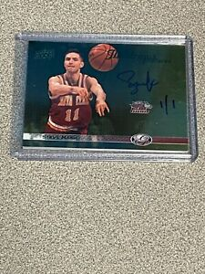 2011 Upper Deck All Time Greats Steve Nash On Card Auto TRUE 1/1