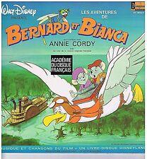 LP+BOOKLET WALT DISNEY BERNARD & BIANCA(ANNIE CORDY)MUSIQUE & CHANSONS DU FILM