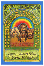 Creedence Clearwater Revival  Royal Albert Hall Poster 1970  Wide Format  24x36
