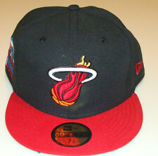 Miami Heat NBA New Era Hat Cap 7 5/8 All Star Logo City Patch Basketball Retro