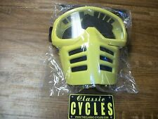 Moto Goggles Yellow Vintage MX Motocross Goggles /  Mask like old Scott Goggles