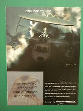 6/2000 PUB NORTHROP GRUMMAN E-2C HAWKEYE 2000 US NAVY AIRBORNE EARLY WARNING AD