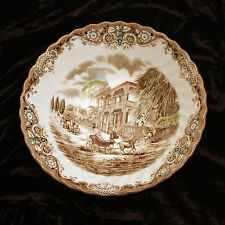 "Heritage Hall Serving Bowl Round Vegetable Server Large 8"" England Staffordshire"