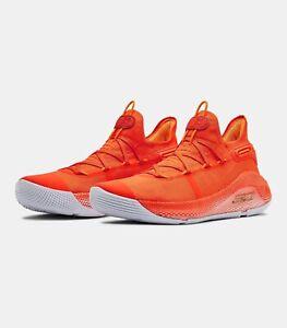 Under Armour Curry 6 Team Orange Burst 3022893-800 Size 10.5