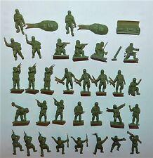 31 ANCIENS PETITS SOLDATS 1/72eme BRITISH PARATROOPS WWII x 31 AIRFIX réf 01723